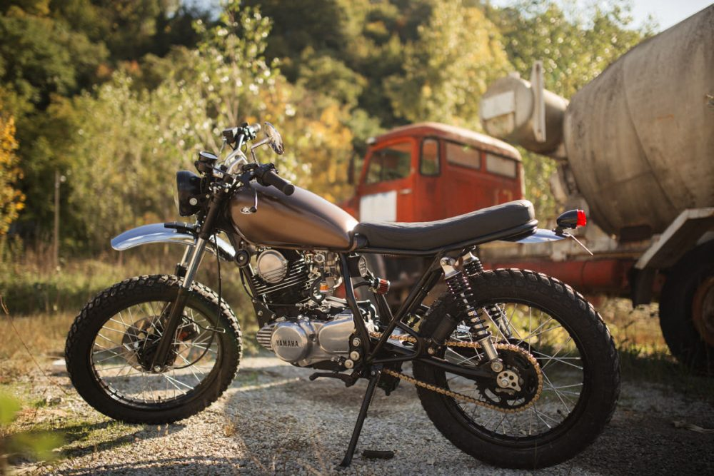 Product Photography – Yamaha SR250 Scrambler by Retro Bikes Croatia